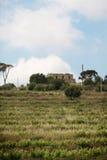 Kerk op heuvel Stock Afbeelding