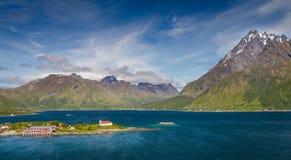 Kerk op Lofoten Royalty-vrije Stock Foto's