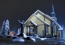 Kerk op nacht Royalty-vrije Stock Afbeelding