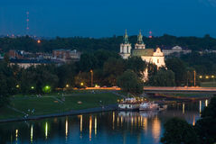 Kerk op Rots - Krakau, Polen Royalty-vrije Stock Afbeeldingen