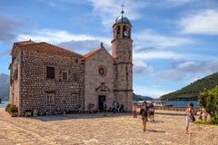 Kerk op rotsen Royalty-vrije Stock Afbeeldingen