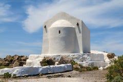 Kerk op Santorini Stock Foto