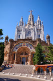 Kerk op Tibidabo, Barcelona Stock Afbeelding