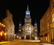 Kerk in oud Montreal, Quebec, Canada Stock Afbeeldingen