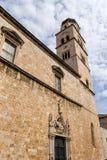 Kerk in oude Dubrovnik Stock Afbeelding