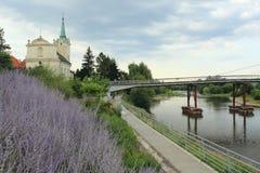 Kerk over Berounka in Praag royalty-vrije stock afbeeldingen