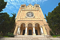 Kerk in Pécs - Hongarije stock fotografie
