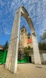 Kerk in Pécs - Hongarije Stock Afbeeldingen