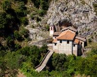 Kerk in Papasidero stock foto's