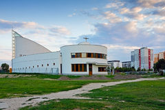 Kerk in Petrzalka royalty-vrije stock afbeeldingen
