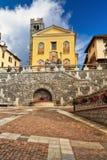 Kerk in Pontedilegno Stock Afbeeldingen