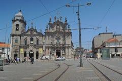 Kerk in Porto stad Stock Afbeeldingen