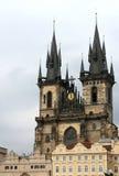 Kerk in Praag Stock Foto's