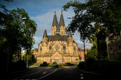 Kerk, Ringkirche Wiesbaden Royalty-vrije Stock Foto