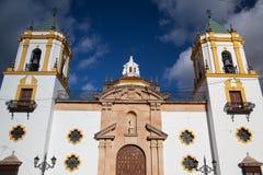 Kerk in Ronda stock afbeeldingen