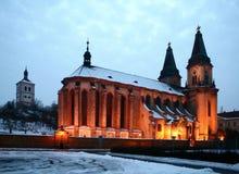 Kerk in Roudnice Stock Fotografie