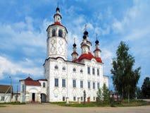 Kerk in Russische barokke stijl in Totma Royalty-vrije Stock Foto's