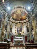 Kerk S Anna - Di Piné Montagnaga van Heiligdomsmadonna royalty-vrije stock afbeelding