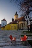 Kerk in Sabinov royalty-vrije stock foto's