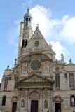 Kerk Saint-Etienne du Mont in Parijs Royalty-vrije Stock Foto's