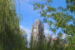 Kerk in Saintes Stock Foto's