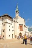 Kerk in Salzburg, Oostenrijk. Royalty-vrije Stock Foto's