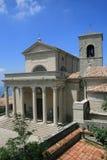 Kerk in San-Marino Stock Afbeelding