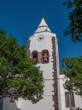 Kerk Santa Cruz, Portugal, Madera stock afbeeldingen