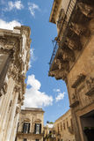 Kerk Santa Irene in Lecce in Salento met Barokke paleizen Stock Afbeelding
