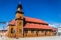 Kerk Santa Rosa in Oxapampa, Peru Royalty-vrije Stock Afbeelding