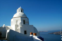 Kerk in Santorini Royalty-vrije Stock Afbeeldingen