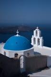 Kerk in Santorini, Griekenland Royalty-vrije Stock Afbeelding