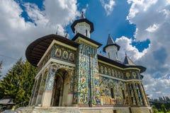 Kerk Sf Ioan Iacob Hozevitul van Neamt, Roemenië stock fotografie