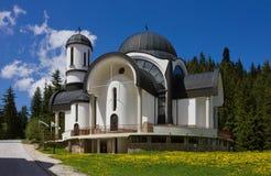 Kerk in Ski Resort Pamporovo Royalty-vrije Stock Fotografie