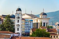Kerk St Demetrius van Salonica in Skopje stock foto