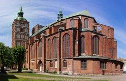 Kerk st. Nikolai in Stralsund, Duitsland Royalty-vrije Stock Foto