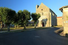 Kerk in St Simon-DE-Bordes, Frankrijk Stock Fotografie