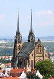 Kerk, stad - Brno Stock Foto's
