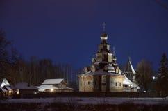 Kerk in Suzdal-Museum van Houten Architectuur stock afbeelding