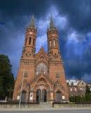 Kerk in Tarnow, Polen royalty-vrije stock afbeeldingen