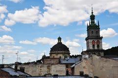 Kerk tegen de hemel Stock Fotografie