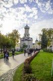 Kerk ter ere van de Afdaling van de Heilige geest op de apostelen in drievuldigheid-Sergius Lavra royalty-vrije stock foto's