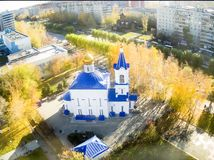 Kerk ter ere van pictogram van Moeder van God Royalty-vrije Stock Afbeeldingen