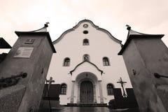 Kerk in Tirol, Oostenrijk Stock Foto