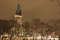 Kerk in Turku, Finland royalty-vrije stock afbeelding