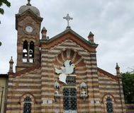 Kerk van Agua DE Dios Cundinamarca (Colombia) stock foto