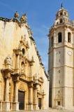 Kerk van Alcala DE Xivert, Valencia, Spanje Stock Afbeelding