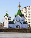 Kerk van Alle Heiligen Rus in Novokosino Royalty-vrije Stock Foto