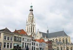Kerk van Breda in Nederland Royalty-vrije Stock Foto's