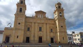 Kerk van Chiquinquira - Colombia Stock Foto's